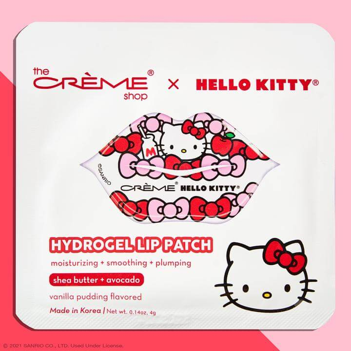 The Creme Shop Hello Kitty Lip Patch Vanilla Pudding Packaging
