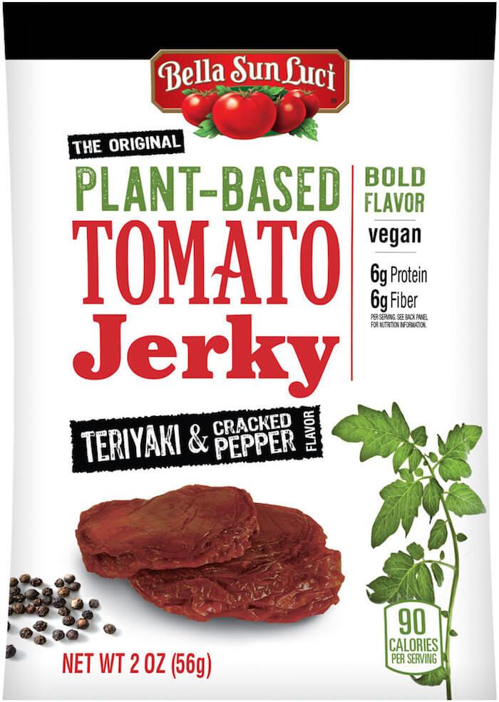 Tomato jerky: Teriyaki and cracked pepper