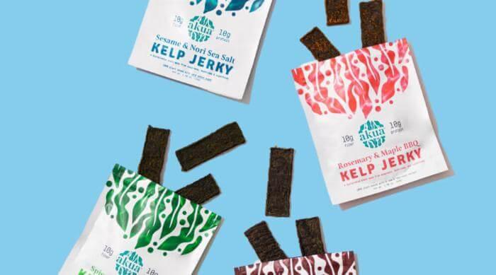 Akua Kelp Jerky four flavors
