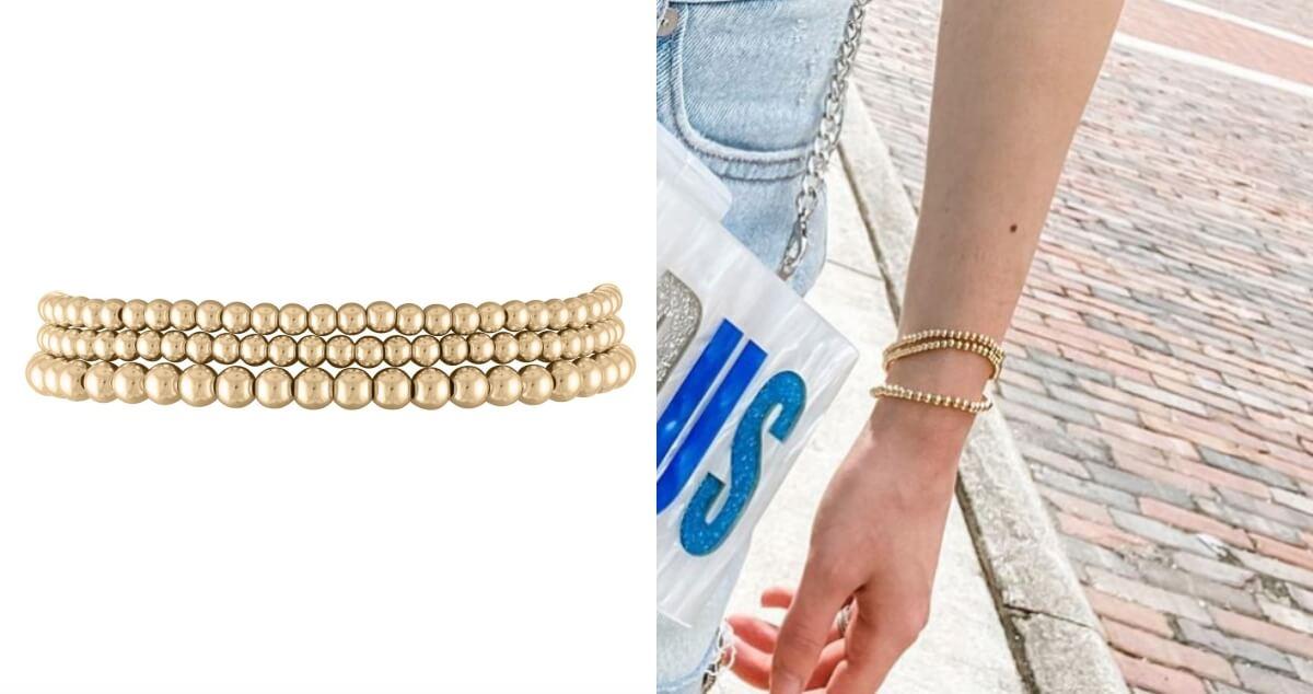 alexa leigh gold stackable bracelets