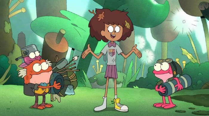 "AMPHIBIA - ""Anne Vs. Wild"" (Disney Channel) POLLY, HOP POP, ANNE, SPRIG"