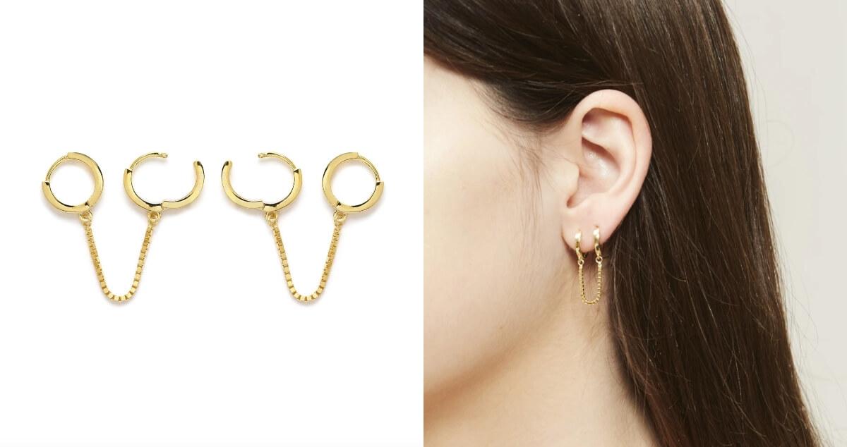 stella and bow bardi cuff earrings