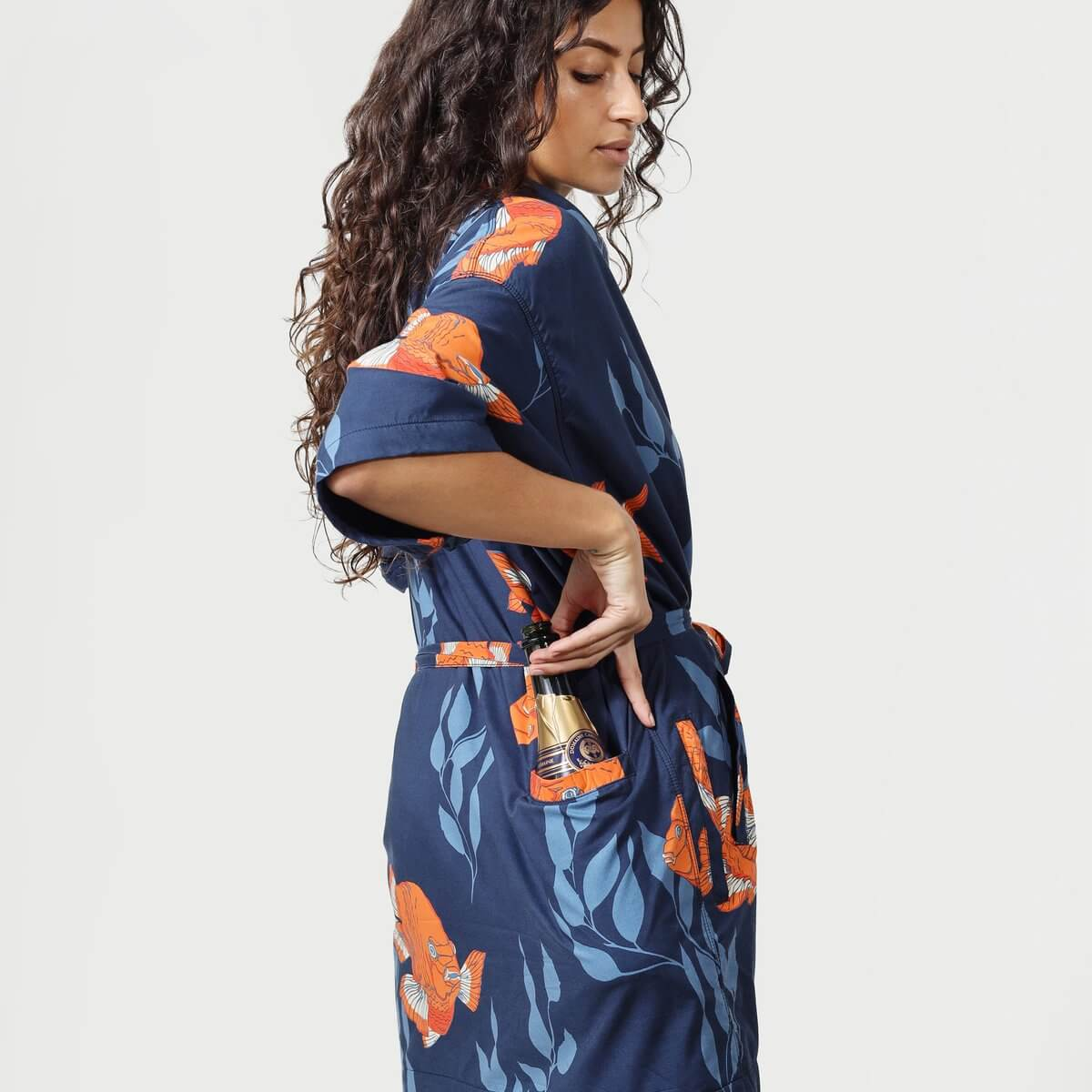 California Cowboy La Sirena robe pocket