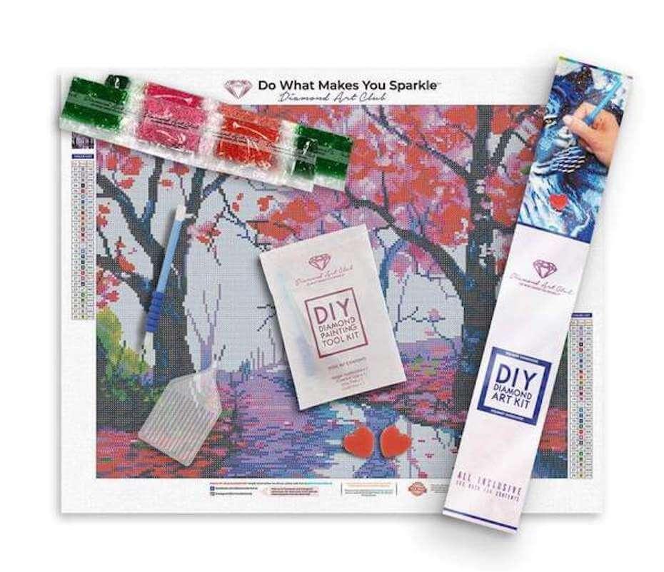 Diamond Art Club fall time art and supplies