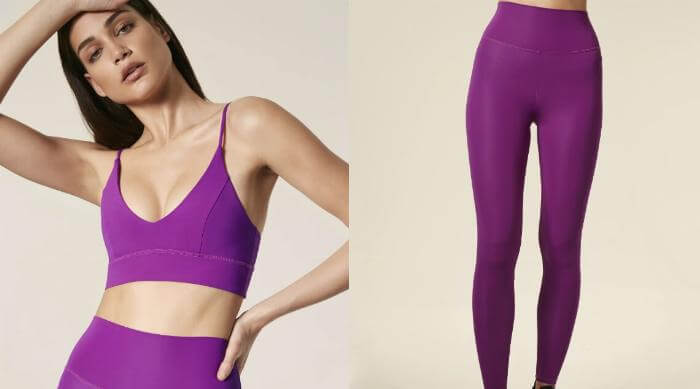 lanston purple sports bra and leggings