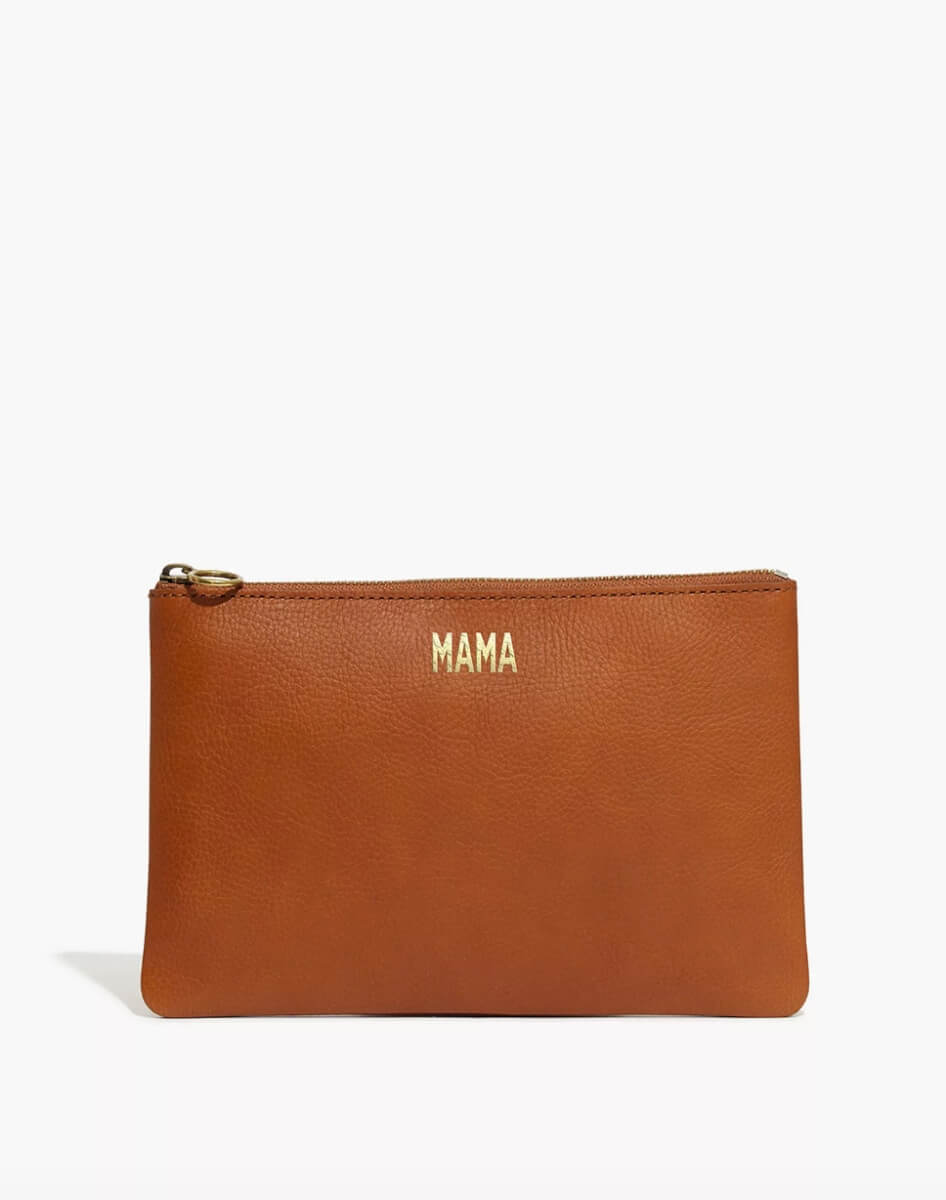 madewell brown mama leather pouch mothers day