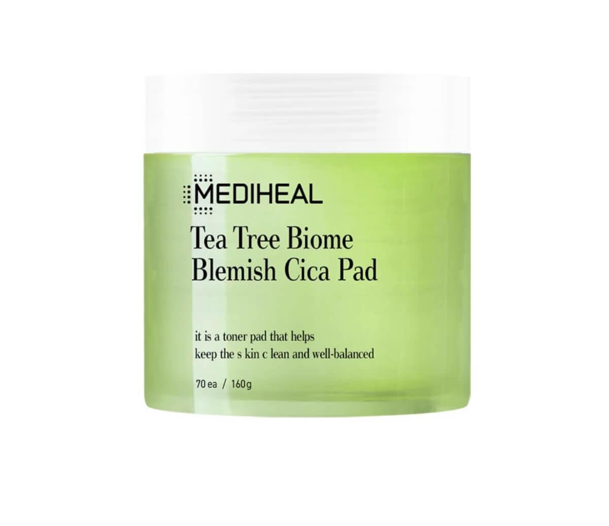 mediheal tea tree biome blemish cica pad
