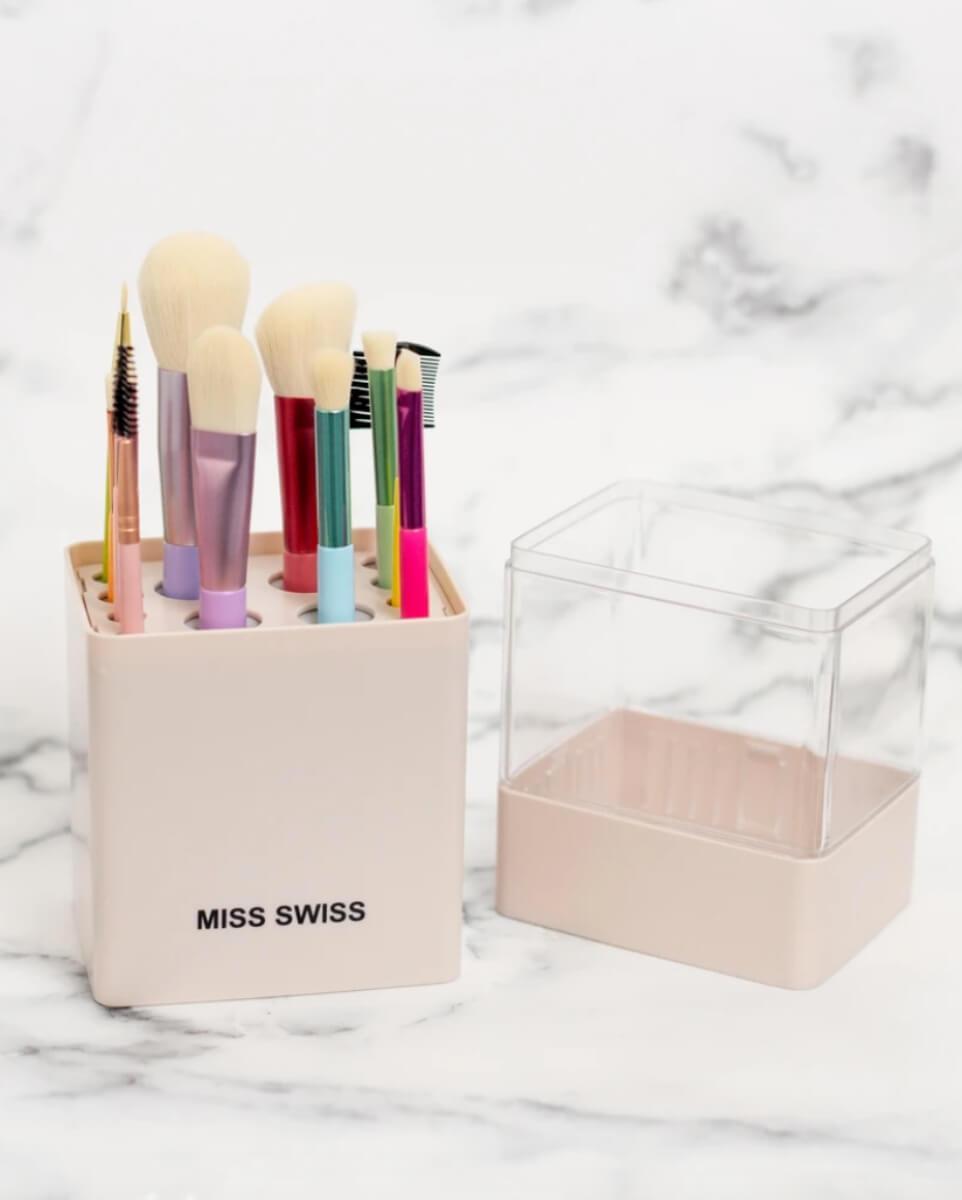 miss swiss blush makeup brushes beauty organizer