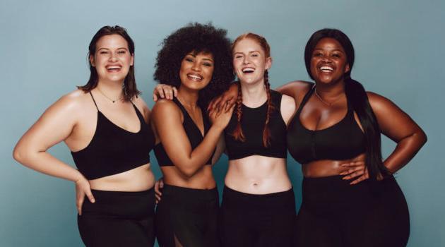 Shutterstock: group of diverse women promoting body positivity