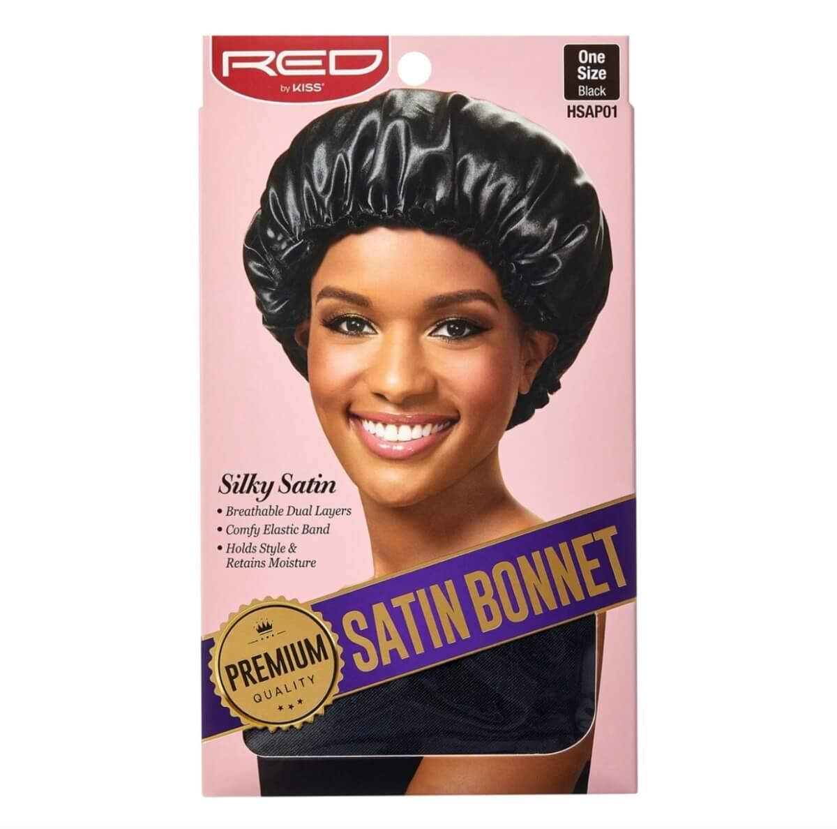 silky satin hair bonnet