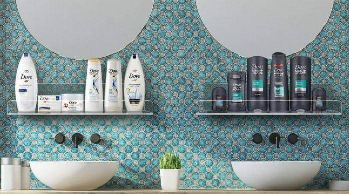 sorbus acrylic wall floating shelves beauty organizer
