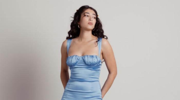 tobi blue graduation dress