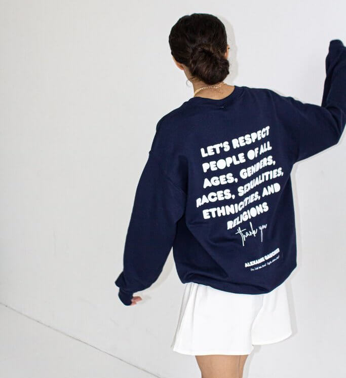 Alexandra Gauchier Respect Crewneck sweater