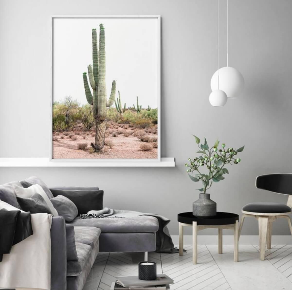 etsy art cactus