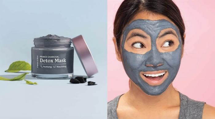 fleur and bee charcoal face mask