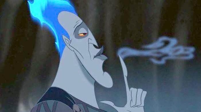 Hercules: Hades blowing snoke from finger