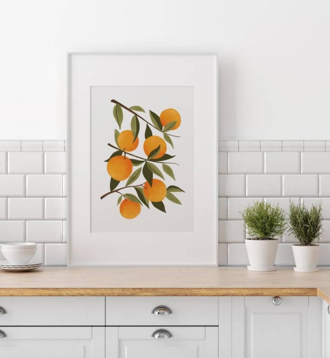 etsy art oranges
