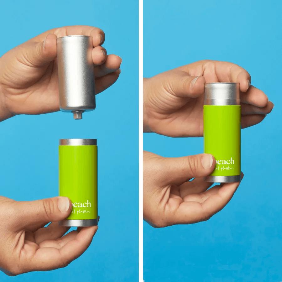 Peach refilling deodorant