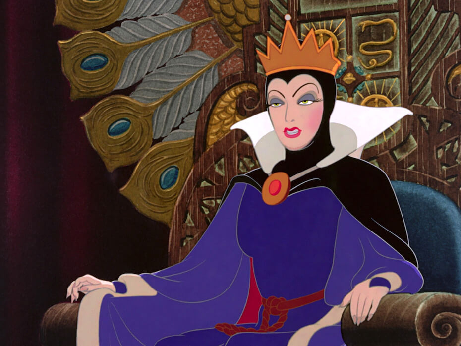 Snow White: The Evil Queen in her throne