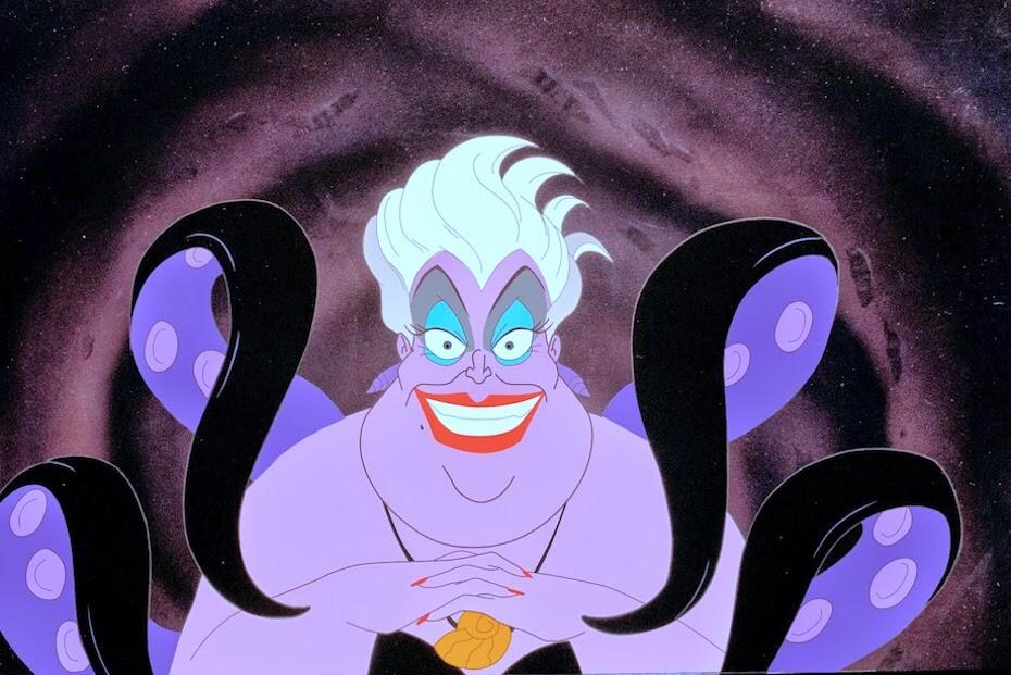 The Little Mermaid: Ursula looking evil