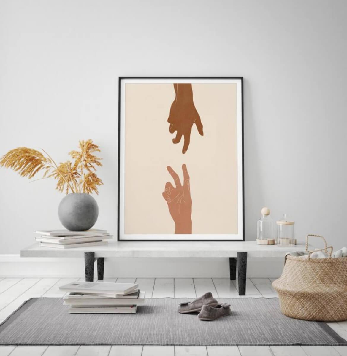 etsy art hands