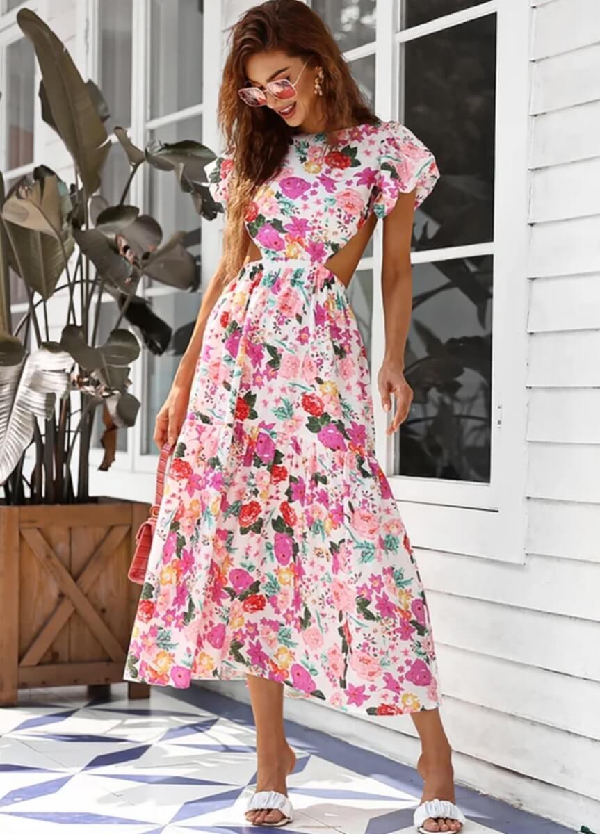 azazie floral dress