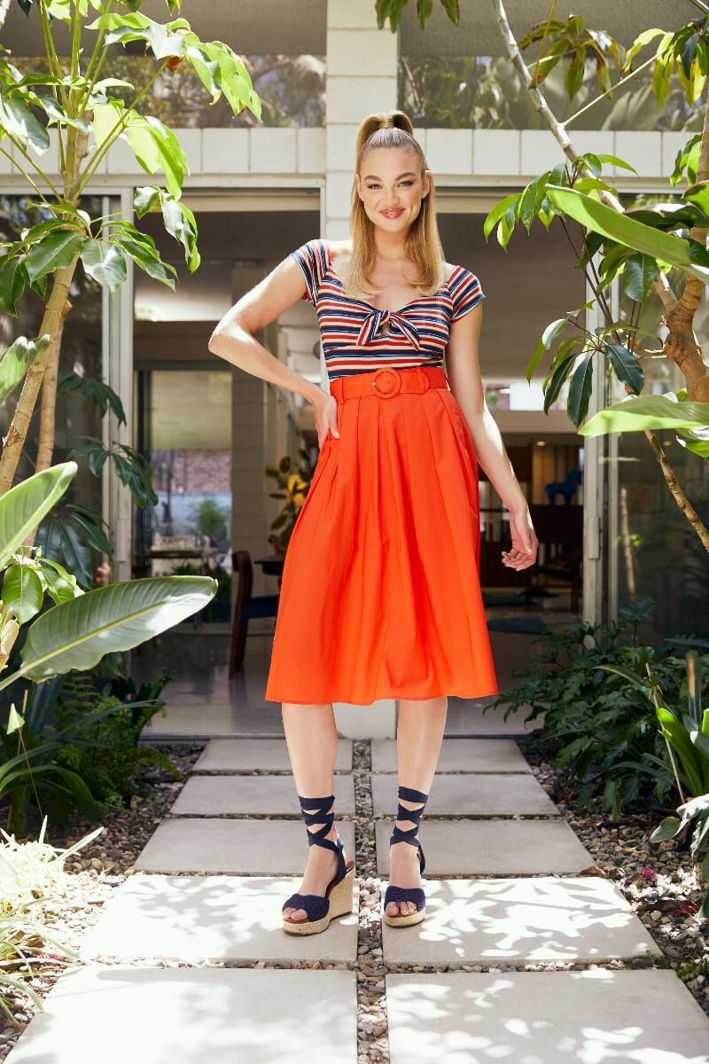 modcloth x barbie bodysuit and skirt