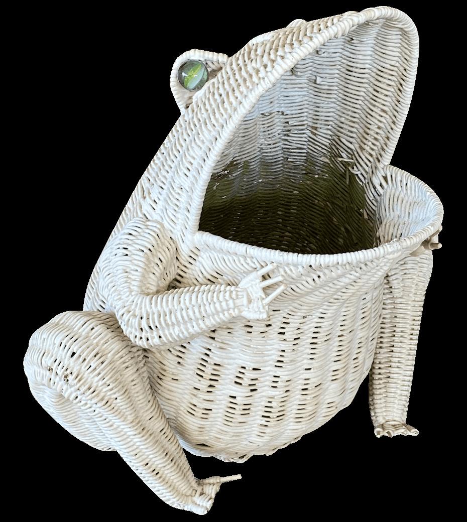Chairish Frog Wicker Basket