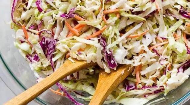 Cupful of Kale: easy vegan coleslaw