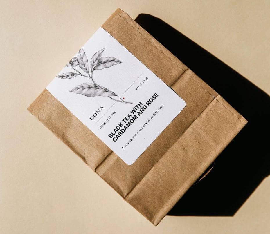 DONA black tea with cardamom and rose