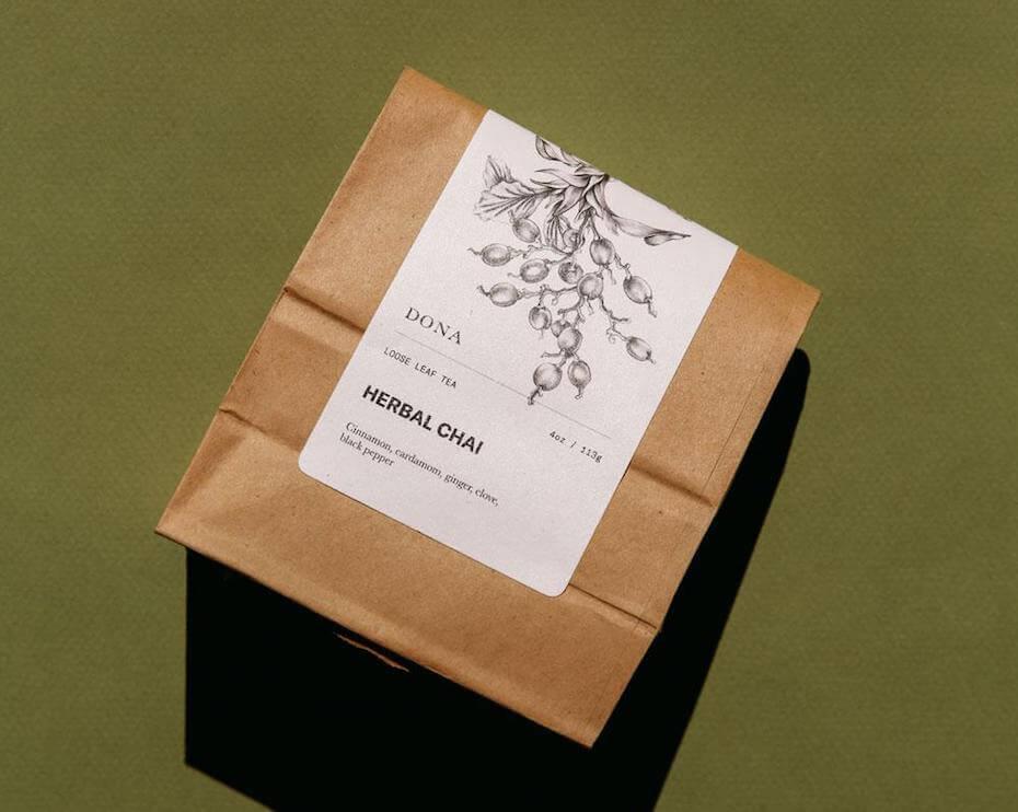 Dona herbal chai loose leaf tea
