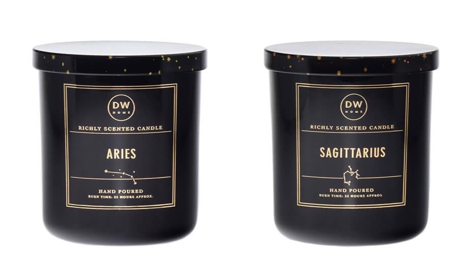 DW Home Aries Sagittarius zodiac candles