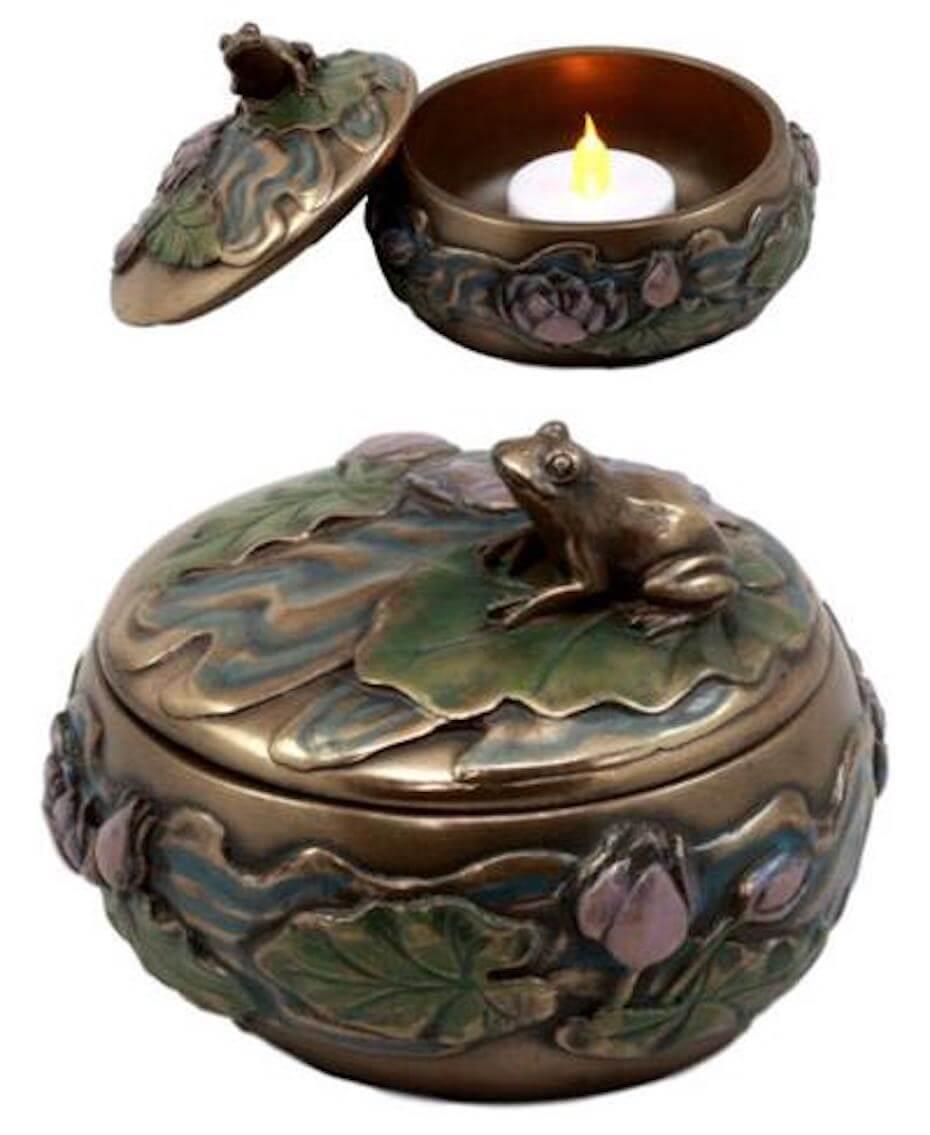 Ebros gfits frog jewelry box