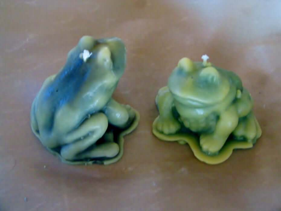 Etsy frog candles