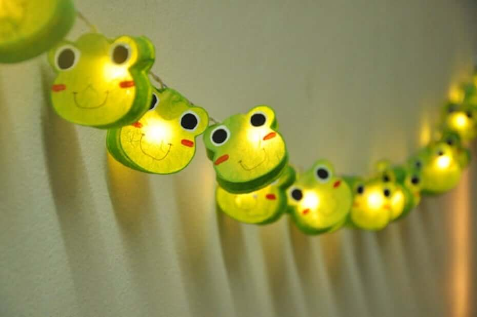 Etsy frog mulberry paper lights