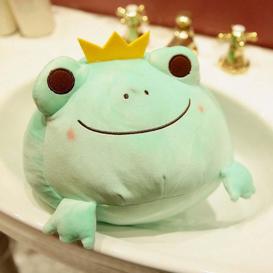 Etsy Frog prince decor pillow