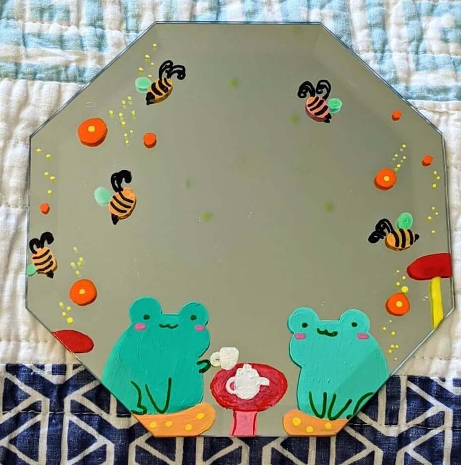 Etsy frog tea party mirror