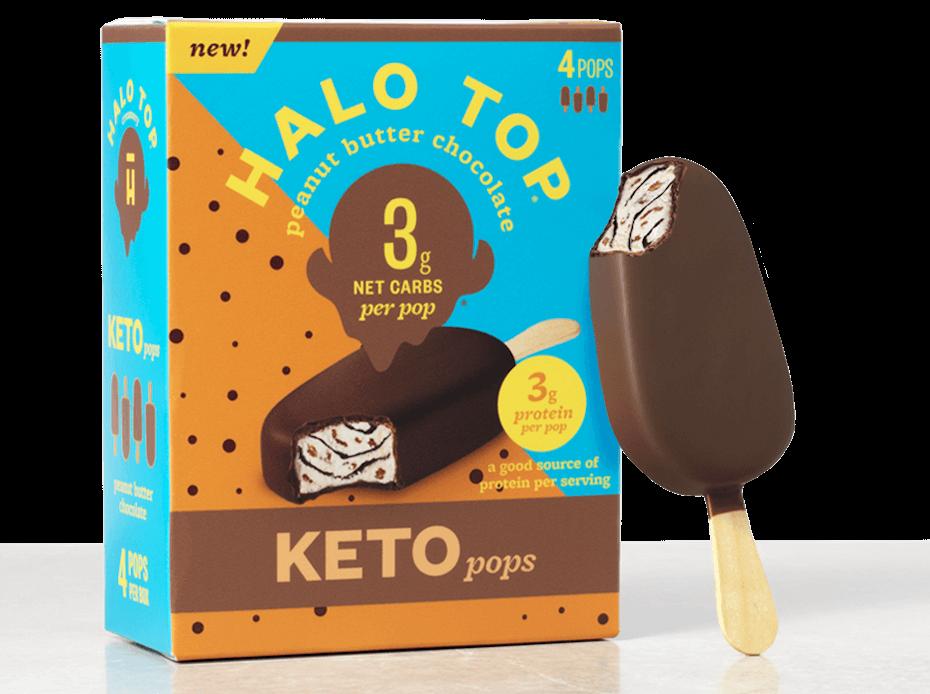 Halo Top Peanut Butter Chocolate Keto Pop