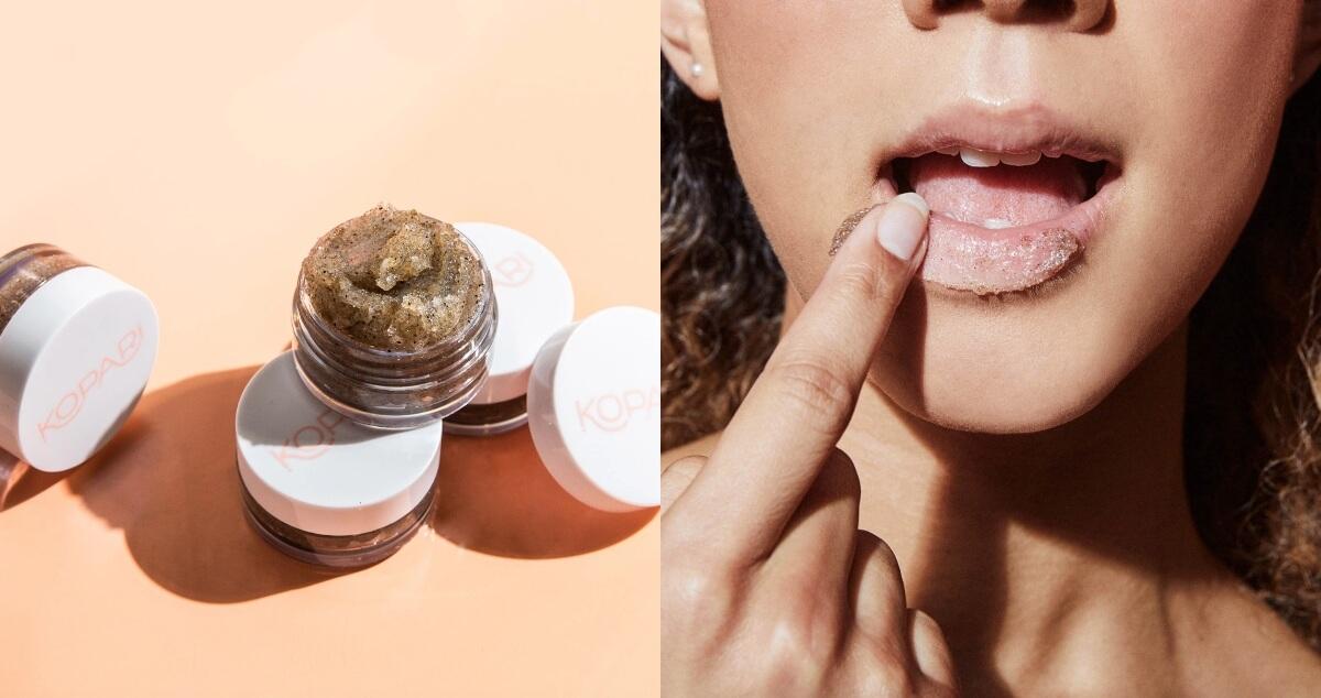 kopari exfoliating lip scrub