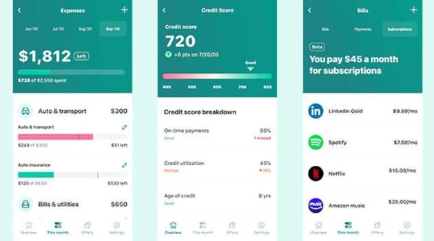 Mint: financial phone app