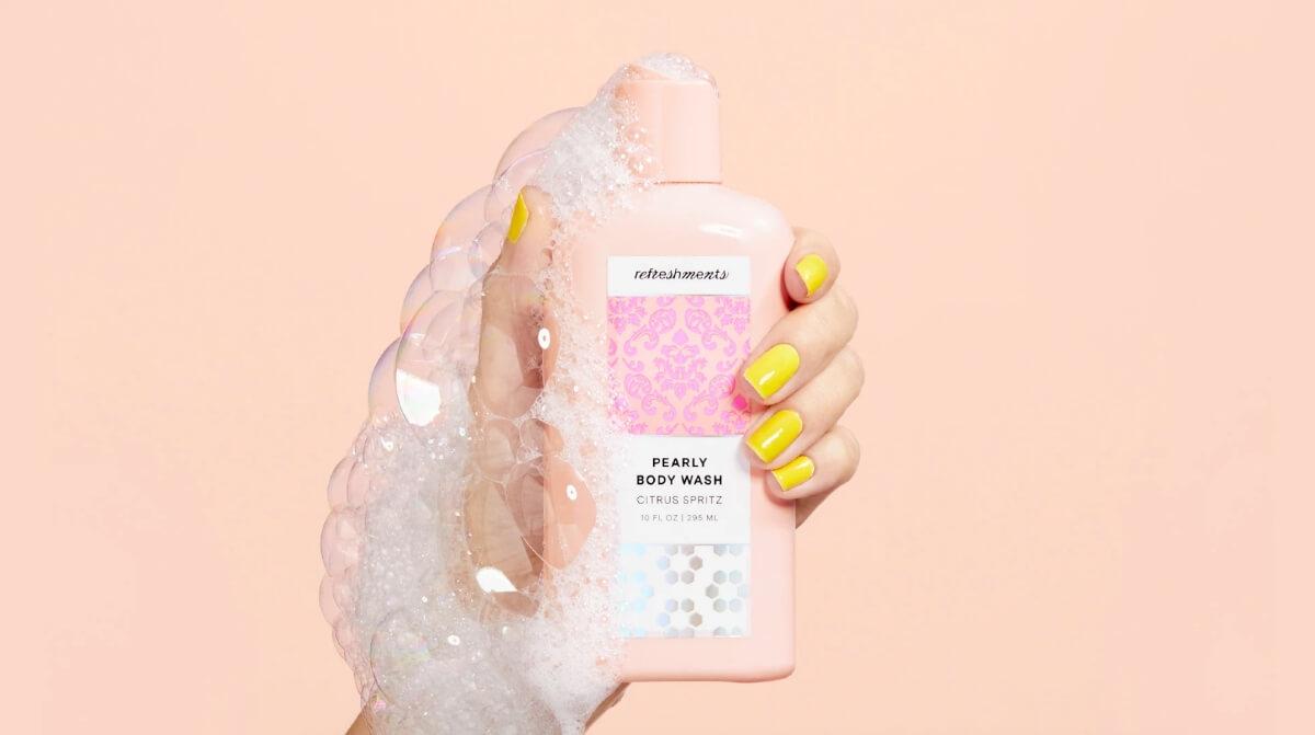 refreshments shower gel