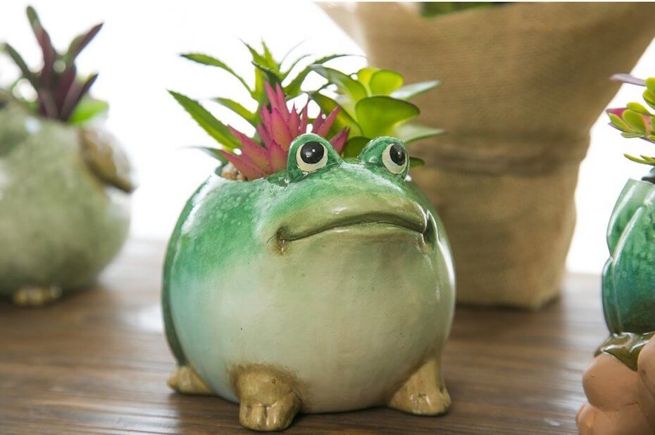 Ruby Jane Ceramic planter with faux plant