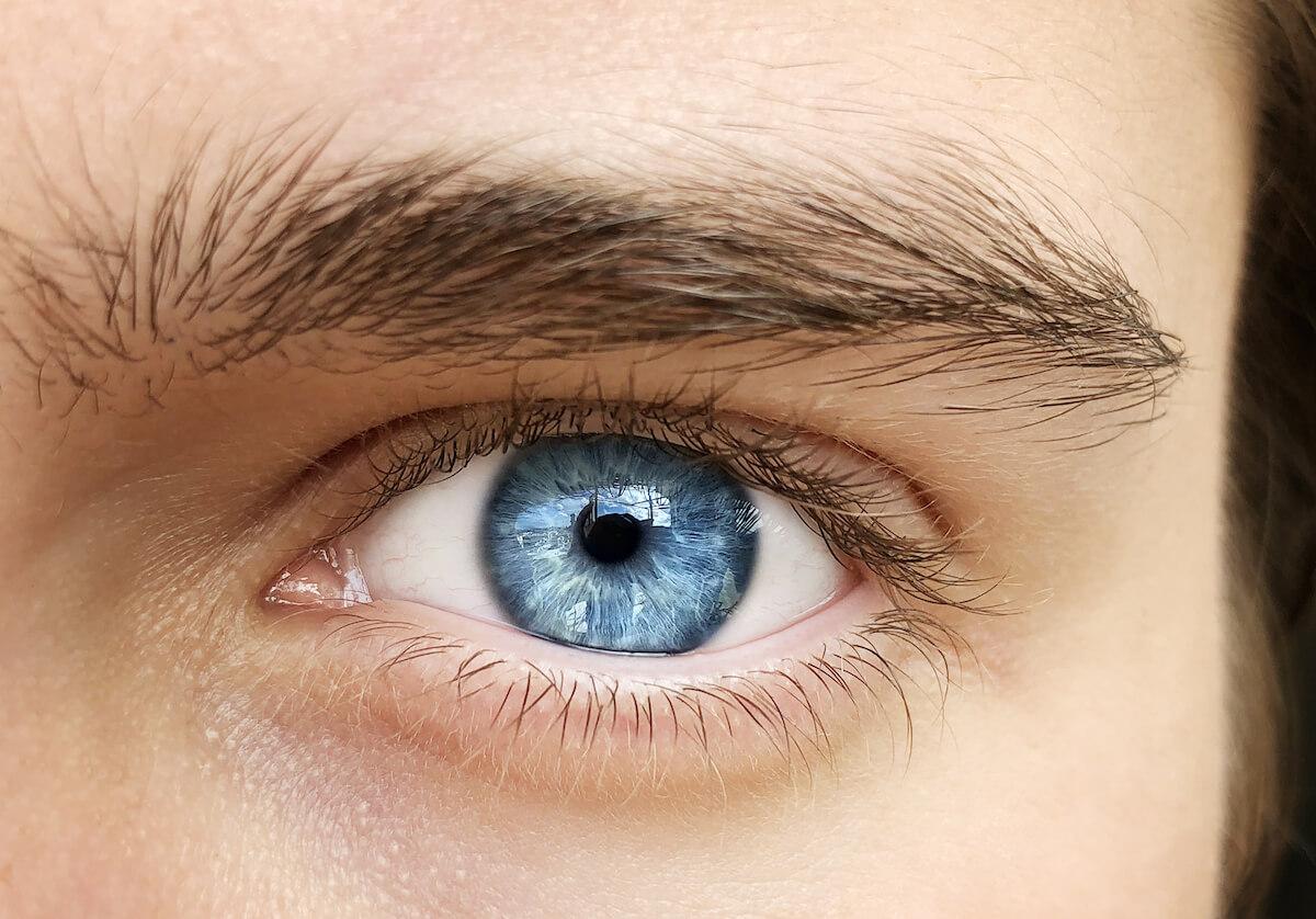 Shutterstock: A beautiful insightful look man's eye. Close up shot