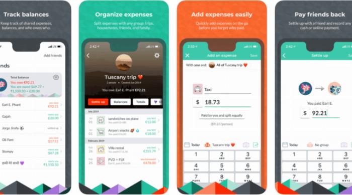 Splitwise: financial phone app
