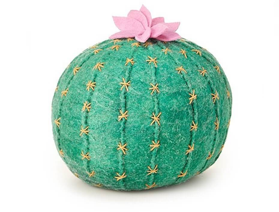 Uncommon Goods cactus bloom throw pillow