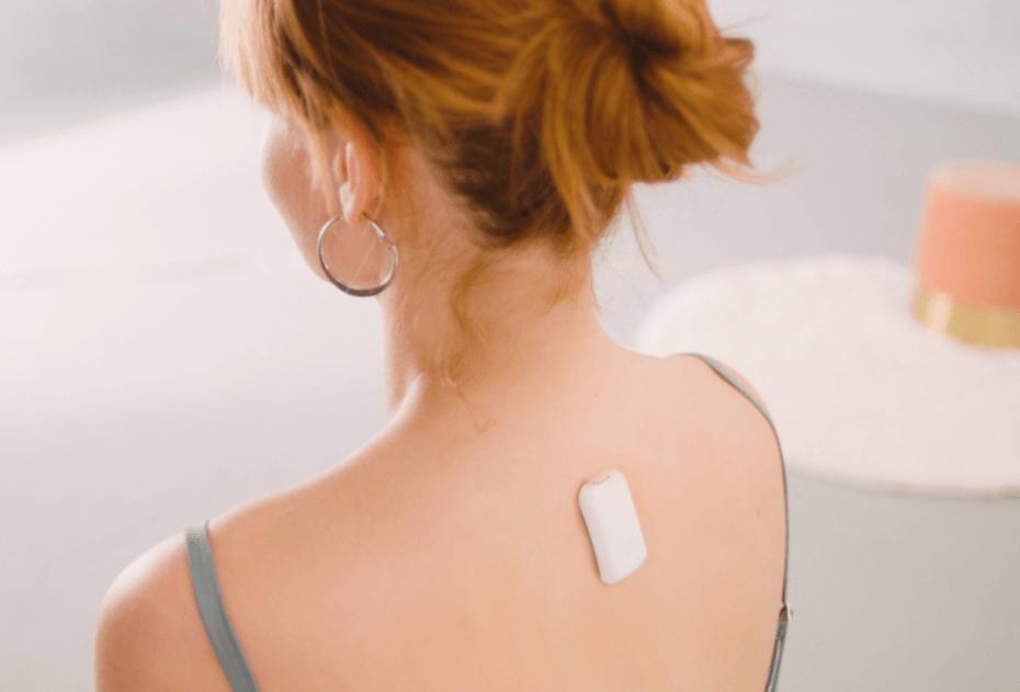 Upright device on back