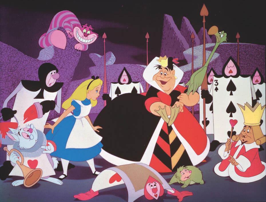 Alice in Wonderland: Red Queen playing croquet