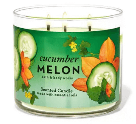 Bath and Body Works cucumber melon 3 wick candle