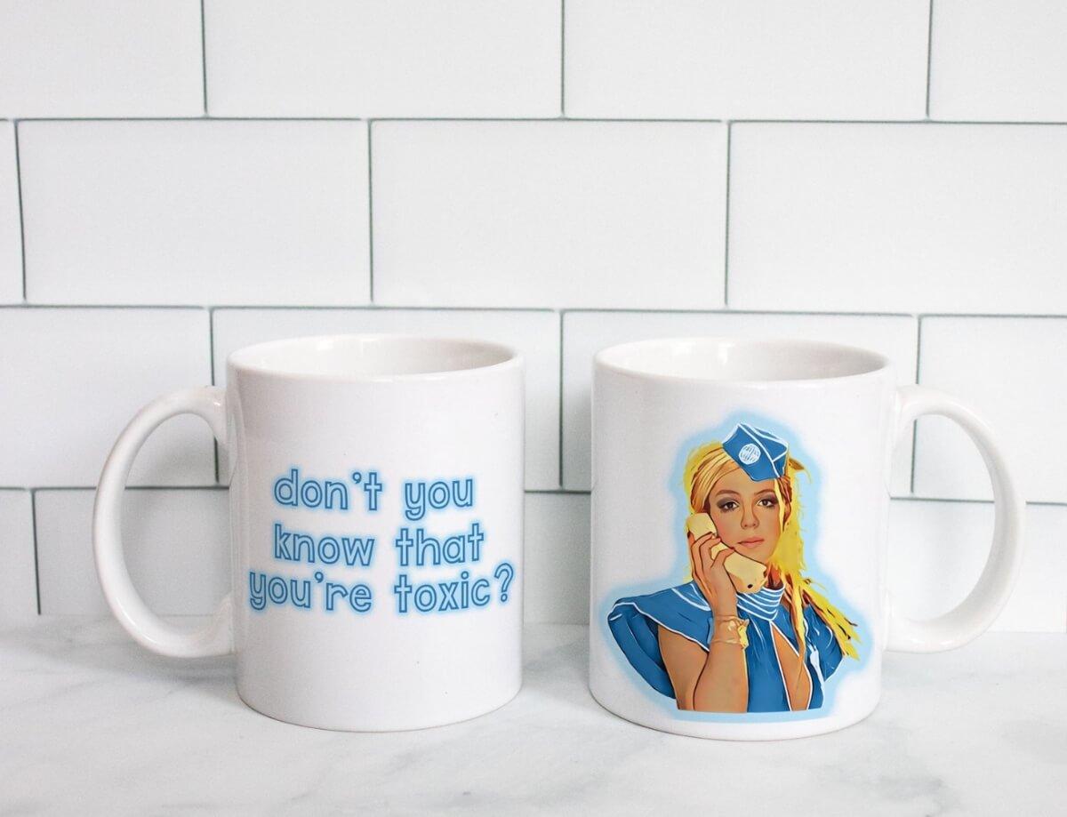 britney spears coffee mug