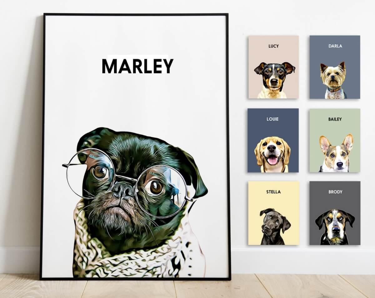 dog portrait etsy